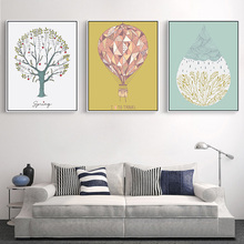 Buy Modern Abstract watercolor pictures decor Canvas Art Print Poster Nordic Wall Picture Home Decor Painting Frame cartoon for $2.99 in AliExpress store