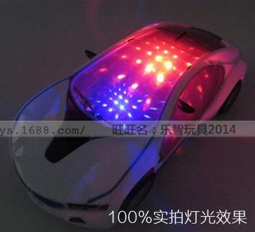 2015 New 3D Flashing Car toy with Lights, and Sound ,Diecasts & Toy Vehicles , Kids Toys(China (Mainland))