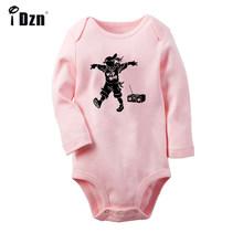 Улица хип-хоп для мальчиков Хэллоуин вечерние черный паук для новорожденных боди для малышей Одежда с длинным рукавом Onsies комбинезон одежд...(China)