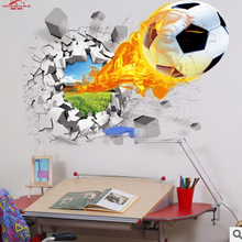 3d wall stickers hot sale soccer ball football Vinyl Wall Decal stickers for kids Sport Boy rooms bedroom Art wall decor(China (Mainland))