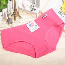 Hot Sale Candy Color Sexy Female Underwear Women's Cotton Panties Lady Breathable Underpants Girls Knickers Panty Briefs(China (Mainland))