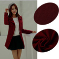 Free Shipping New Woolen Tweed Wool Fabric Thicker Loop Fleece Red Fall Winter Coat Dress Fabric