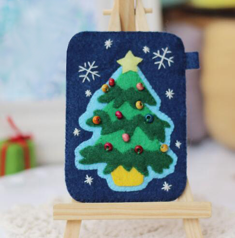 Christmas Card Protector Fabric Felt Kit Non-woven Cloth Craft Felt Material Needlework Supplies