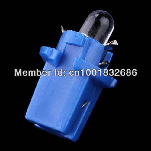 Free shipping 10X T5 B8.3D Car Gauge LED Speedo Dashboard Dash Wedge Side Light Bulb Lamp Blue 12V