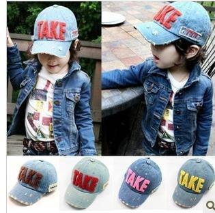 Children's baseball cap cowboy hole version baseball hat suncap Breathe freely good quality, freeshipping