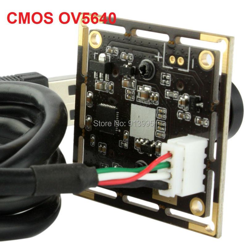 5MP CMOS OV5640 cameras module USB 2.0 with 2.1mm lens for eletronic machine ELP-USB500W02M-L21