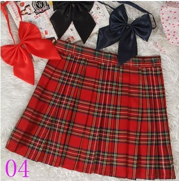 Preppy Style Japanese School Girl Plaid Pleated Skirt High Waist Short font b Tartan b font