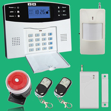 Wireless/wired Phone SIM GSM Home Burglar Security GSM Alarm System English Russian Spansih Czech Voice Prompt Alarm Sensor kit(China (Mainland))