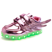 Colorful female male Luminous LED Neon Lihgt up Shoes Men femme Lasers Flashlight chaussure USB CHarging wing shape Shoelaces(China (Mainland))