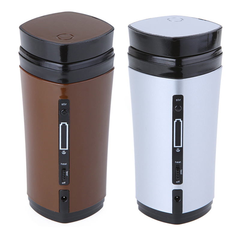 USB Powered Coffee Cup Tea Mug USB Warmer with Built-in Rechargeable Li-battery Automatic Stirring(China (Mainland))