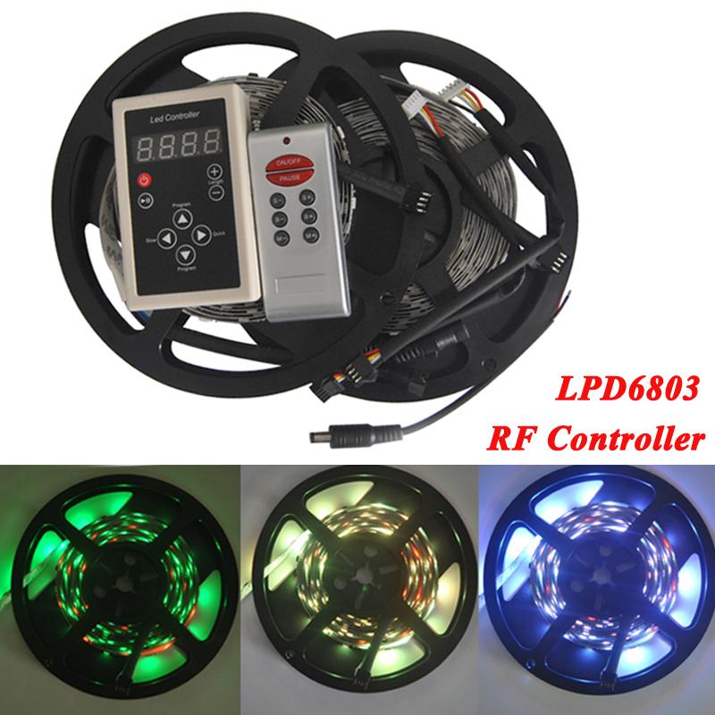 lpd6803 Magic LED Strip dream color 5050 RGB SMD Intelligent Strip Light 6803 IC 10M no waterproof 133 Program(China (Mainland))