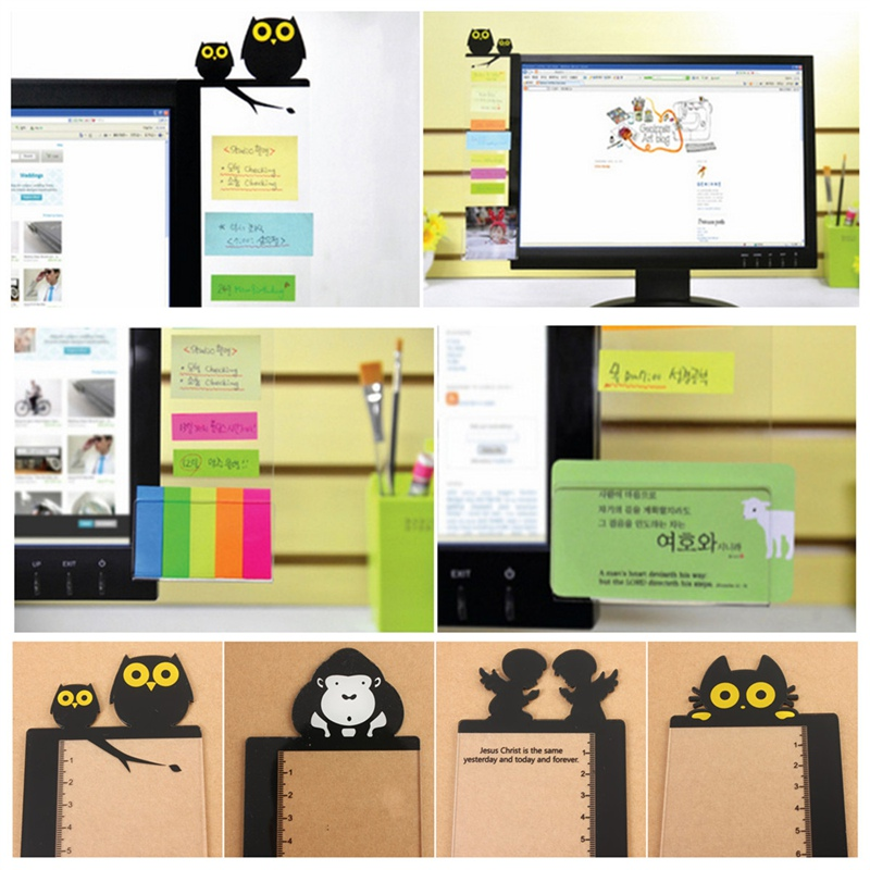 Modern Design Best Promotion Computer Monitor Screen Transparent Board Sticky Notes Card Photo Holder Suitable For Office Home(China (Mainland))