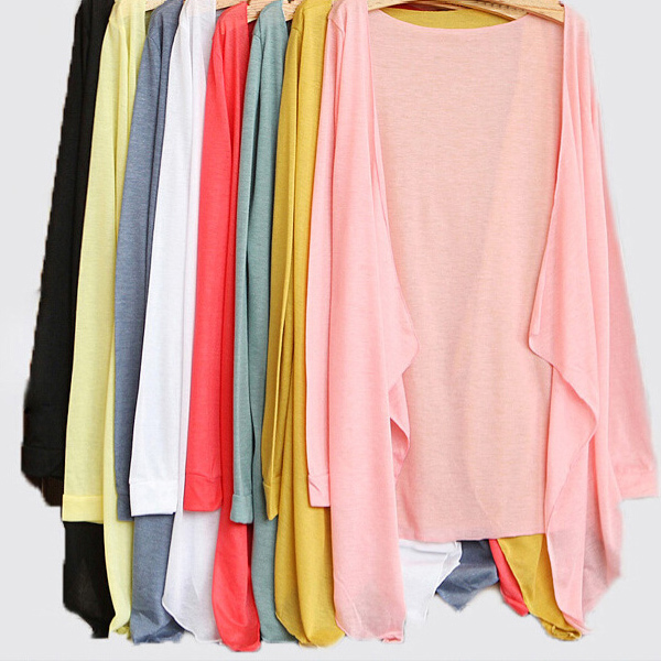 Buy new hot 2015 casual long sleeve solid candy colors sun protection clothing - Protect clothes colors washing ...