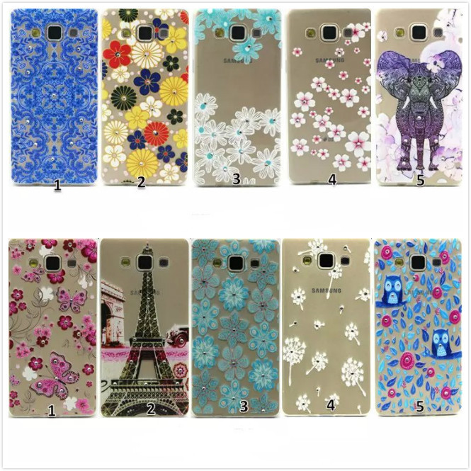 Ultra Slim Crystal Diamond Bling Embossed 3D Funda Coque TPU Soft Phone Case For Samsung Galaxy A5 A500F SM-A500F(China (Mainland))
