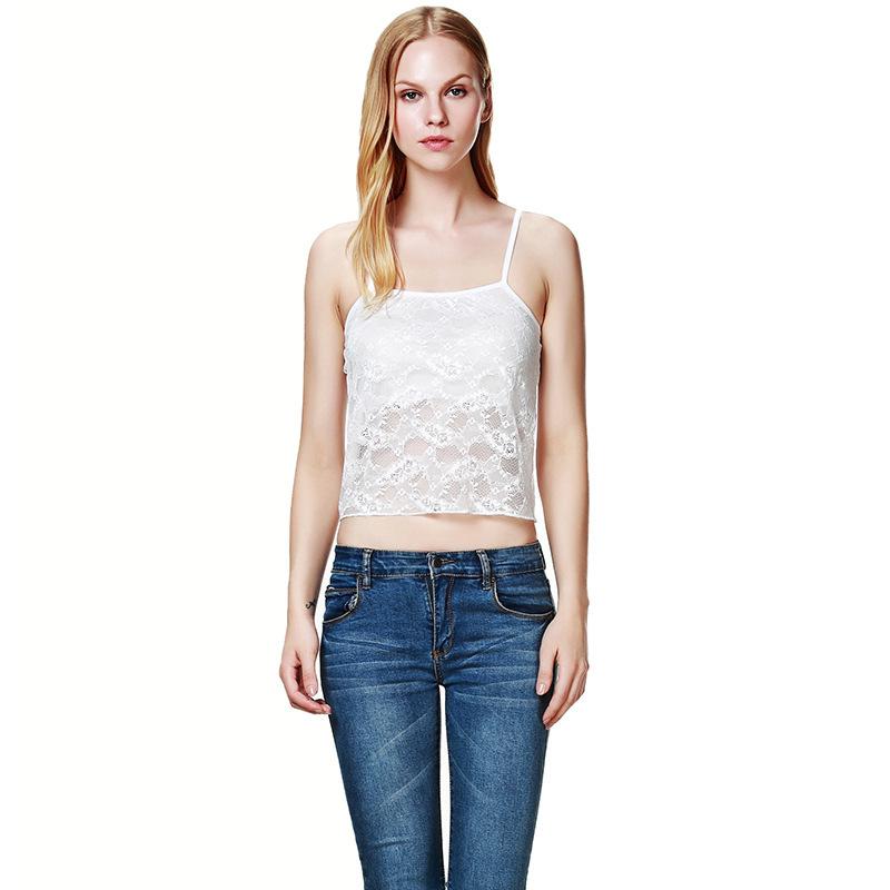 New 2015 bustier halter short top women summer women s clothing tanks lace bralet croptop torre