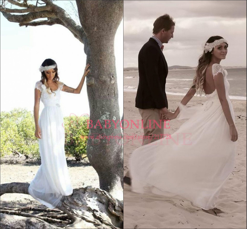 Bohemian beach style wedding dresses wedding dress ideas for Short beach style wedding dresses