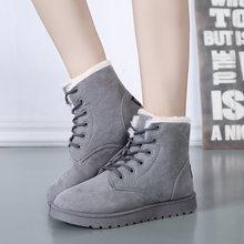 Klasik Kadın Kış Çizmeler Süet Ayak Bileği Kar Botları Kadın Sıcak Kürk Peluş Astarı Yüksek Kaliteli Botas Mujer Kış Ayakkabı bayanlar(China)