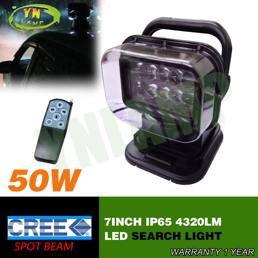 50W led remote  search light hunting light  led work light  magnetic base spot beam light  7inch cree leds 10pcs*5W