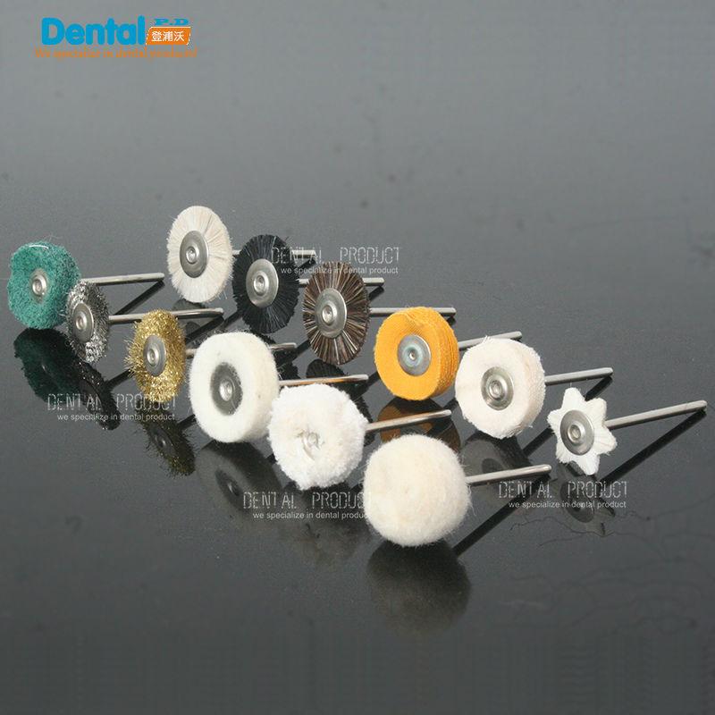 24pcs Dental Lab Brush Polishing Wheel Polishers for Rotary Tools 2.35mm 12pcs/set(China (Mainland))