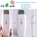 Wireless RF Radio Frequency Red Blue Heating Photon Therapy Anti Acne Wrinkle Treatment Skin Stimulation Tighten