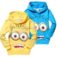 New 2015 outwear despicable me minion boys hoodies, girls nova sweatshirts, kids children hoodies Autume Spring Tops & Tees(China (Mainland))