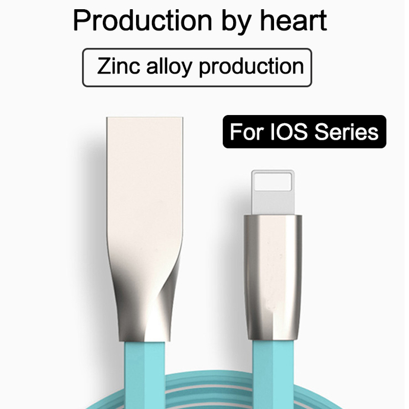 High Quality 3D Zinc Alloy 8pin i6 for iPhone 6 6S Plus 2A Fast Charging Data line USB Cable for iPhone 5 5s 6 6S Plus iPad mini(China (Mainland))