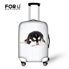 New 18-30inch Animal Cat Travel Suitcase Luggage Protective Cover With Storage Bag,High Waterproof Baggage Cover 6 colors(China (Mainland))