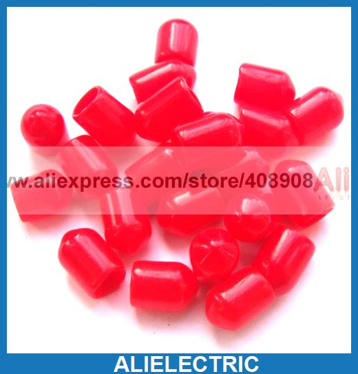 100pcs Plastic Covers Dust Cap Red for RF SMA Female Connector(China (Mainland))