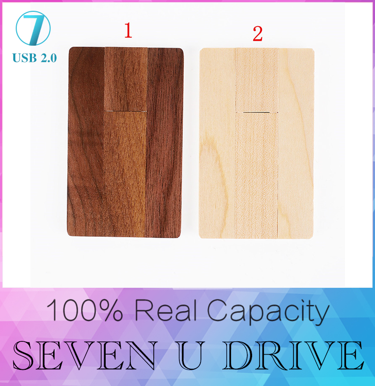 Hot Sale Wooden Card USB flash drive 512GB Maple wood memory stick pen drives 128GB pendrive disk 4GB 8GB 16GB 32GB gift(China (Mainland))
