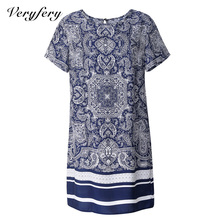 T shirt dress Summer style 2015 women dress casual vestidos vintage ethnic elegant dress Print plus size women clothing OMX-144(China (Mainland))