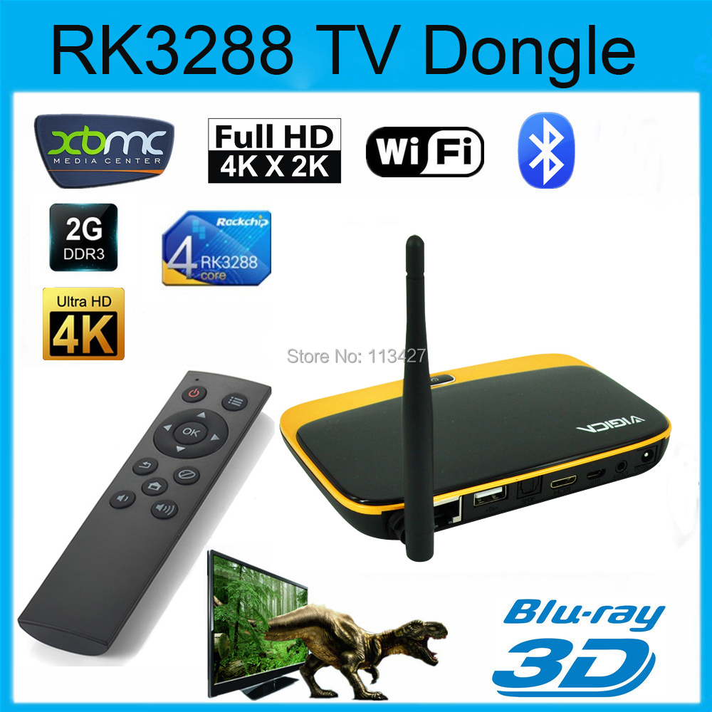 HY V3 RK3288 Quad Core Cortex A17 Android 4 4 2G 8G Android TV BOX 4K