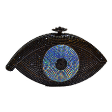 LaiSC Gold Evil eye bag Women clutch bag silver evening bag femme pochette bag luxury Crystal day Clutch bling party purse SC023
