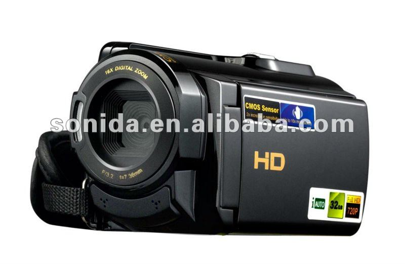 16MP CMOS Digital Camera with 16X Zoom Lens and Full HD 1080P Video HDV-503ST(China (Mainland))