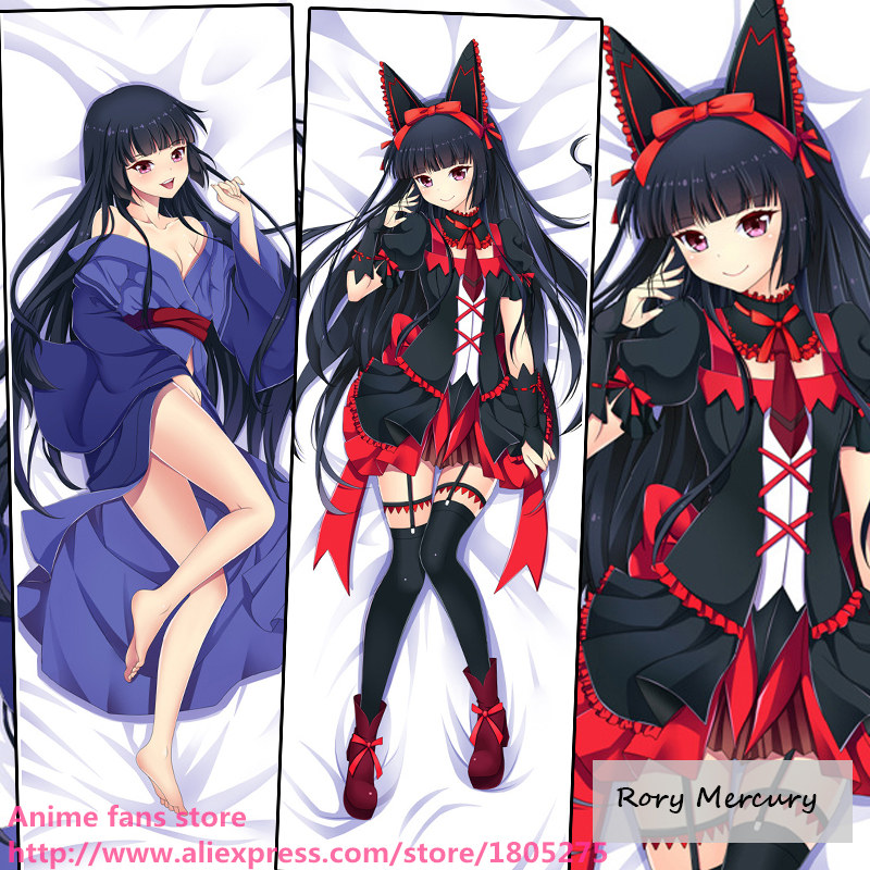 Cute Japanese Anime Gate Jieitai Kanochi Nite Rory Mercury Lovely Pillowcase Pillow Case decorative Hugging Body Bedding - fans store