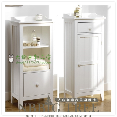 small bathroom storage floor cabinets with doors