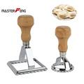 Set of 2 pcs Square 7 0 and Round 5 0cm Italian Pie Pasta Cutter Tool