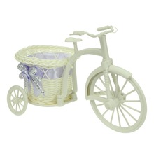 Mastone Weaving Flower Basket Bike Tricycle Basket for Home Office Flower Vase Storage(China (Mainland))