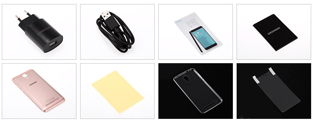DOOGEE X7 3G Telephone 6.0 inch Android 6.0 MTK6580 Quad Core1GB RAM 16GB ROM Bluetooth 4.0 Dual Cameras 3700mAh Mobile Phone