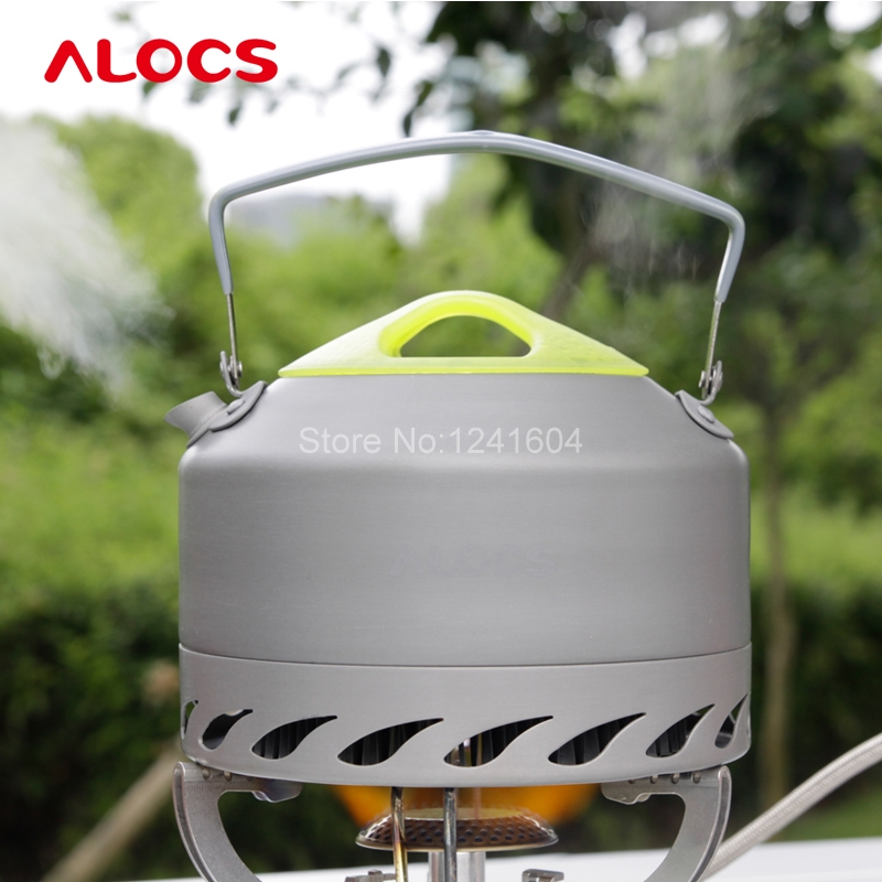 Alocs 0.9L Portable Water Kettles Outdoor Camping Survival Coffee Pot Water Kettle Teapot Aluminum Cookware Set 200g(China (Mainland))