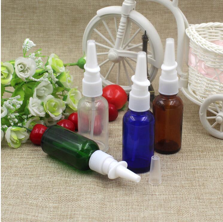 30ml Glass Spray Nasal Pump Bottles Mist Nose Liquid Medicine Container Mini Perfume Empty Glass Cosmetic Bottles(China (Mainland))