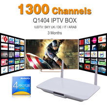 Wholesale Android Smart Tv Set Top Box RK3128 Android 4.4 With 3 Months IUDTV Free Iptv Subscription Full Europe 1300 Channels