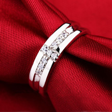 Cross Style 925 Silver CZ Diamond Engagement Ring for Men Jewelry White Gold Plated Wedding Rings Gift for Boyfriend or Husband(China (Mainland))