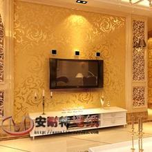 Silver gold fashion brief pvc wallpaper tv sofa living room background wall wallpaper,3D home decoration wallpaper 10M * 0.53M
