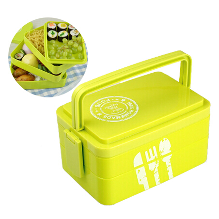 buy plastic lunch box 3 layers portable bento box spoon fork. Black Bedroom Furniture Sets. Home Design Ideas