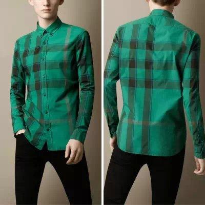 Classic 2014 Men England Style Plaid Casual Shirts/Designer Long Sleeve Check Shirt/Tops #9010 size S-XXL - Men&Women Fashion Shop store