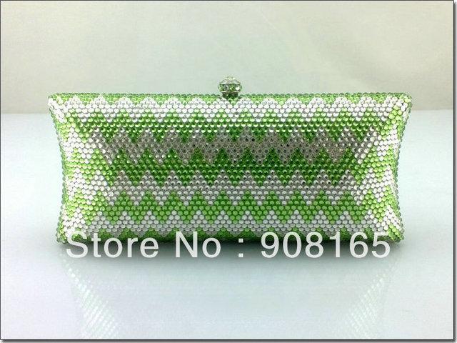 women bag 2013,new green crystal bags,women luxury fashion clutch evening bag.free shipping wholesale