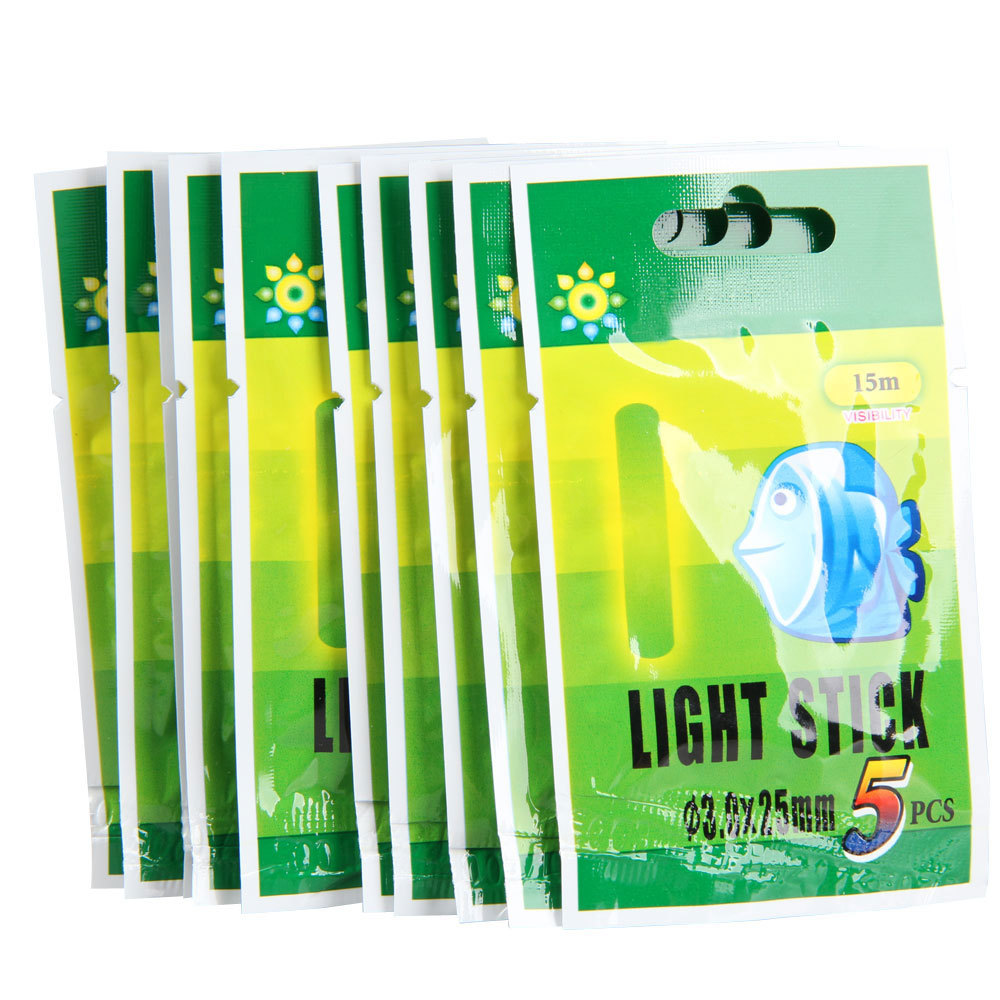 Free Shipping 25Pcs 25mm Night Fluorescent Float Lightsticks Glow Sticks for Fishing Y5(China (Mainland))
