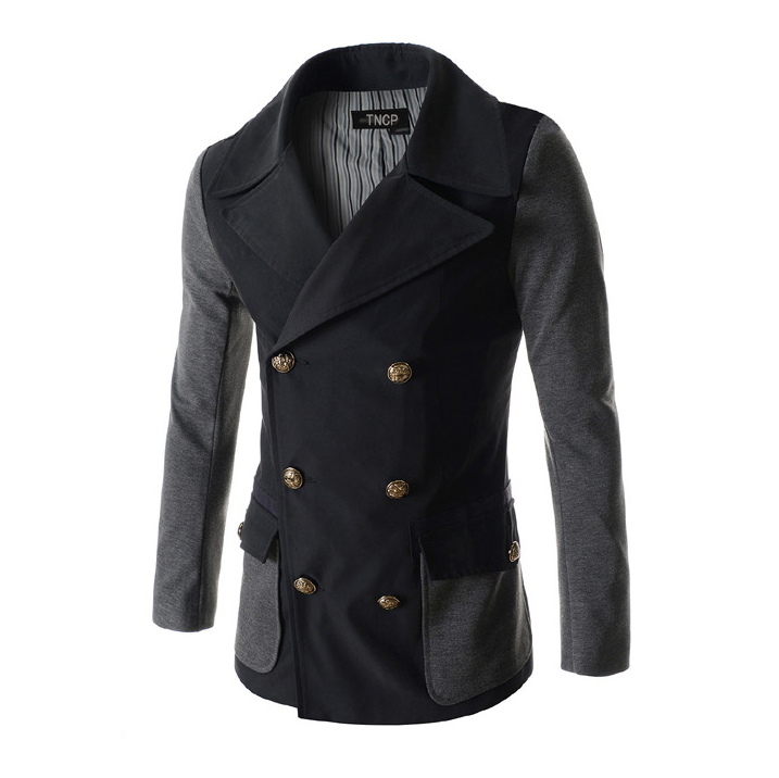 Здесь можно купить  2015 New Fashion British Style Worsted Trench Pea Coat Men Patchwork Winter Popular Overcoat Jacket Jaqueta Masculina 13M0364 2015 New Fashion British Style Worsted Trench Pea Coat Men Patchwork Winter Popular Overcoat Jacket Jaqueta Masculina 13M0364 Одежда и аксессуары