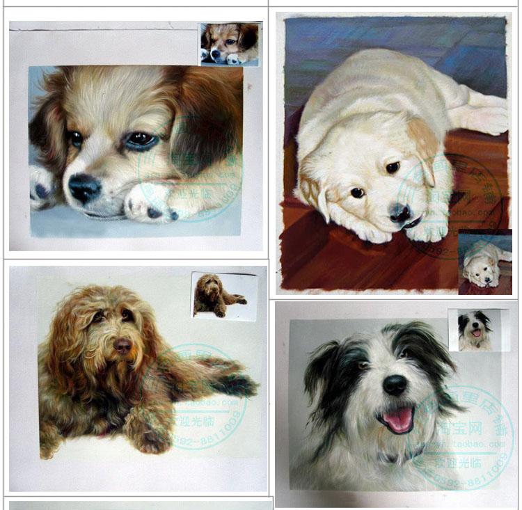 Здесь можно купить  100% HAND PAINTED animal oil painting--CUSTOM customize Dog PET ANIMAL photo OIL PAINTING ART 24 inch - WORK--free shipping cost  Дом и Сад