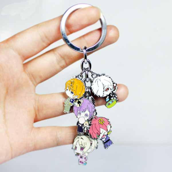 DIABOLIK LOVERS Komori Yui metal pendant 5figures alloy fashion keychain collectible model toys - Moonsytoy store